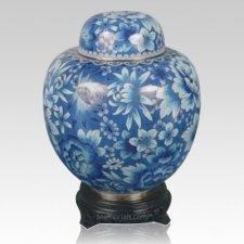 China Caribbean Flowers Cloisonne Keepsake Cremation Urns