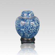 Oriental Light Blue Small Cloisonne Urn