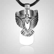Angel Heart Cremation Necklace
