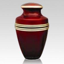 Crimson Cremation Urn