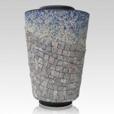 Cross Mosaic Cremation Urn