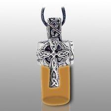 Cross Pet Brown Keepsake Necklace