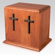 Cross Silhouettes Cremation Companion Urn