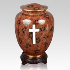 Cross Cloisonne Keepsake Cremation Urns