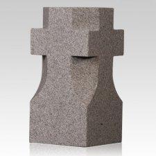 Steel Gray Cross Granite Vase
