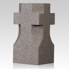 India Red Cross Granite Vase