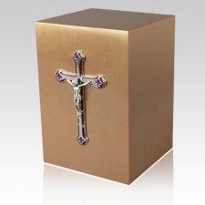 Crucifico Bronze Cremation Urn