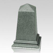 Green Obelisk Cultured Granite Pet Cremation Urn