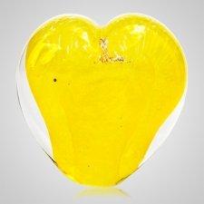 Daffodil Cremation Ash Glass Heart