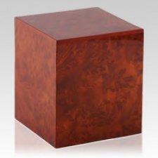 Dark Burl Elm Wood Cremation Urn