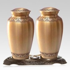 Dignity Bronze Cremation Urns For Two
