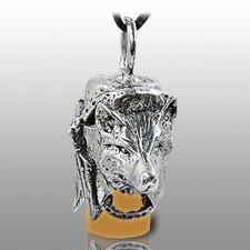Dog Spirit Brown Pet Ash Urn Necklace
