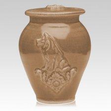 Dog Pale Apple Ceramic Cremation Urn