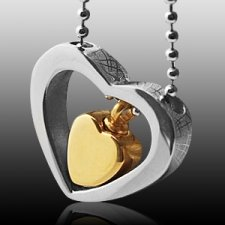 Double Heart Cremation Jewelry