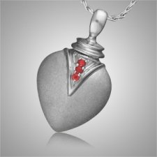Duchess Teardrop Ruby Cremation Pendant