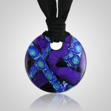 Purple Embrace Small Ash Pendant