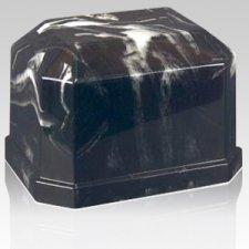Eden Ink Black Marble Cremation Urn