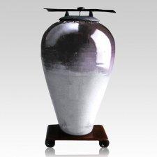 Raku Tall Purple Companion Cremation Urn