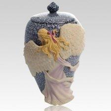 Embrace Angel Color Keepsake Cremation Urn