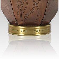 Mardi Gras Copper Cremation Urn
