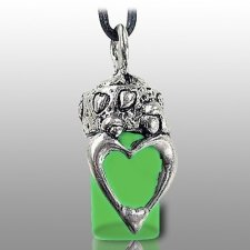 Family Green Pet Urn Necklace