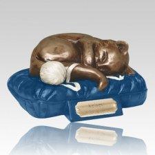 Feline Dreams Blue Cremation Urn