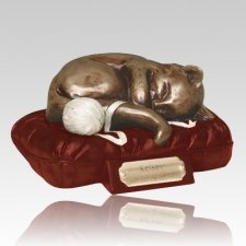 Feline Dreams Red Cremation Urn