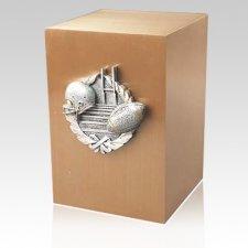 Football Bronze Cremation Urn