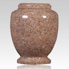 Pink Traditional Granite Cremation Urn