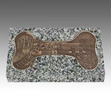 Dog Bone Bronze Grave Marker