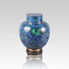 Emperor Blue Small Cloisonne Urn