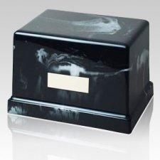 Moderno Ebony Marble Cremation Urn