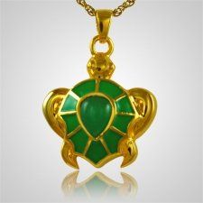 Green Turtle Cremation Jewelry IV