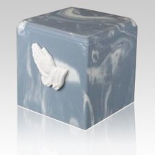 Harmony Praying Hands Marble Cremation Urn