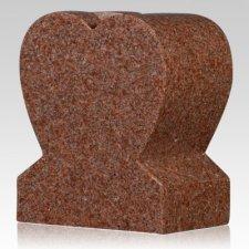 Redwood Heart Granite Vase