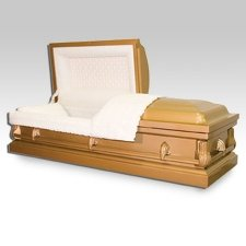 Hebron Gold Metal Casket