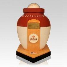 Houston Astros Baseball Cremation Urn