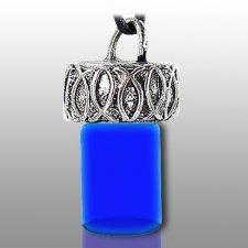 Ichthys Fish Blue Pet Necklace Urn