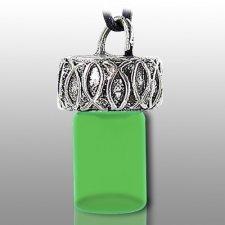 Ichthys Fish Green Pet Necklace Urn