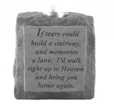 If Tears Could Build Votive Stone