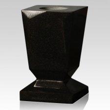 India Black Beveled Granite Vase