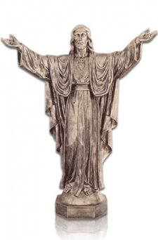 Jesus With Open Arms Large Fiberglass Statues