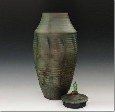 Kikiman Raku Cremation Urn For Two