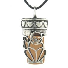 Kitty Brown Pet Necklace Urn