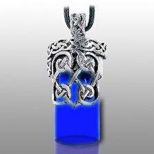 Knotted Heart Blue Pet Urn Necklace