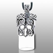 Knotted Heart Pet Urn Necklace