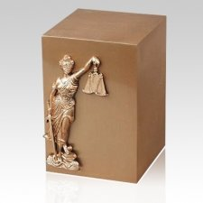 Lady Justice Bronze Cremation Urn