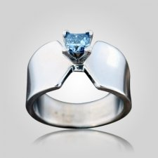 Large Band Solitaire Ring
