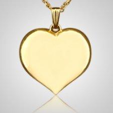 Large Flat Heart Keepsake Pendant