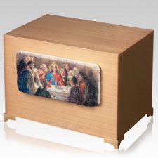 Last Supper Bronze Cremation Companion Urn